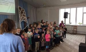 Hilsen fra byen Korosten i Ukraina
